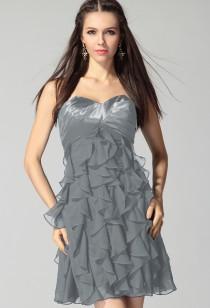 Marylou - robe de soirée à volants réf  5808