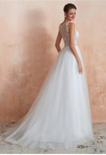 Robe de mariée dos en illusion SQ371 - sur demande