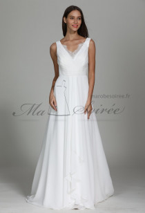 Gracieuse robe de mariée avec dos en voilage Réf: M1901 - Sur demande