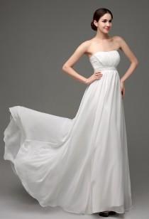 Robe de mariée fluide avec des perles réf SQ249 - sur demande