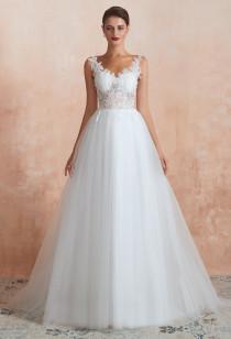 Robe de mariée dos en illusion SQ371