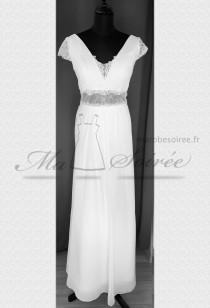 Robe de mariée bohème chic à manches - Réf M2143 Sur demande