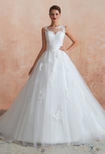 Robe de mariée princesse avec traîne SQ366