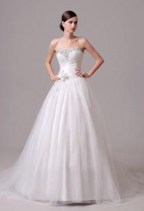 Robe de mariée sobre effet princesse réf SQ304 - sur demande