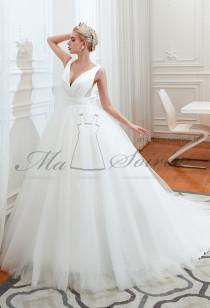 Robe de mariée décolleté plongeant Réf SQ354