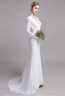 Robe de mariée sirène manches longues Réf M2138 - Sur demande