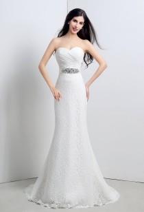 Robe de mariée sirène bustier ceinture amovible réf SQ120 - sur demande
