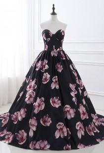 Robe de soirée imprimé florale - réf SQ402
