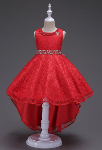 Jolie robe de demoiselle d'honneur asymétrique Réf EF093