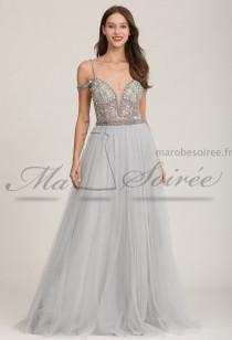 Sublime robe de soirée dos nu- Réf 2151 - sur demande